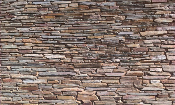 Stone wall: Layered stones in a wall