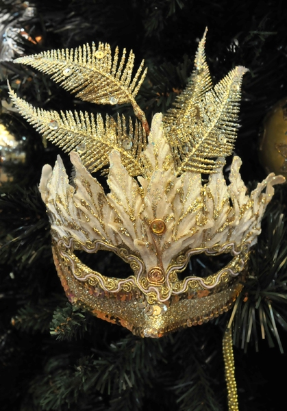 christmas gold mask: Christmas gold mask