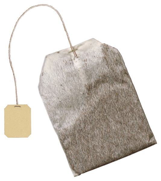 Tea Bag: An isolated tea bag.