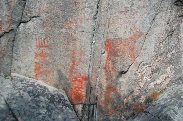 Ancient Rock Paintings: 3000 year old rock painting at Tumlehed, Sweden