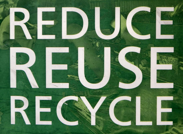 recycling encouragement1: sign against waste