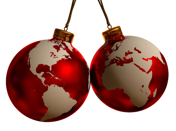 World Globe Christmas Ornament