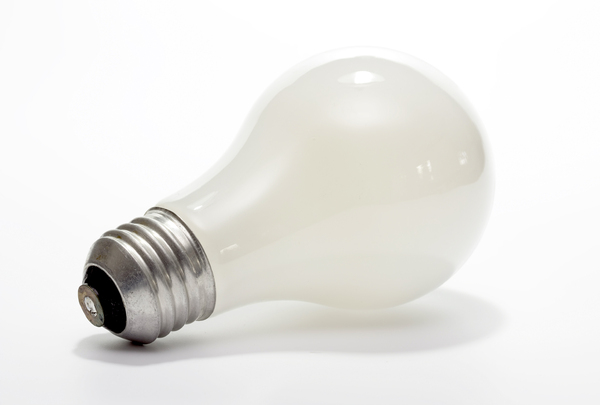 Lightbulb: A standard screw in type lightbulb