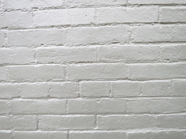 Bricks: White brick wall.