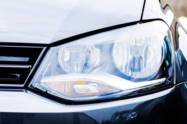 Car front: light and front of a car