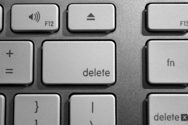 Computer Keyboard: Computer Keyboard showing delete key