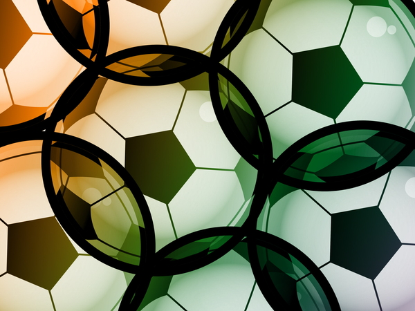 Soccer Clipart: Soccer ball background illustration.