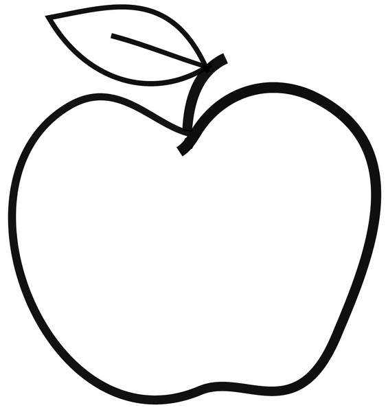 Line Art Of Apple : Simple line drawings