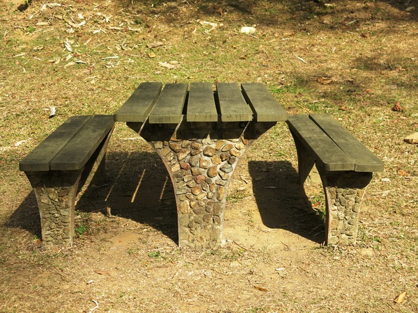picnic table area: picnic table area