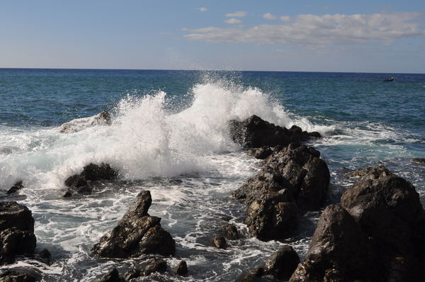 Roar of the sea: Power of the sea causing erosion