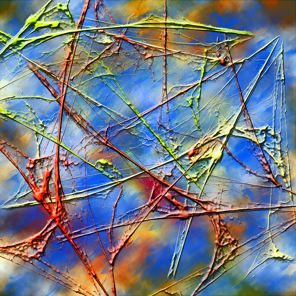 abstract paint: CG made with PS