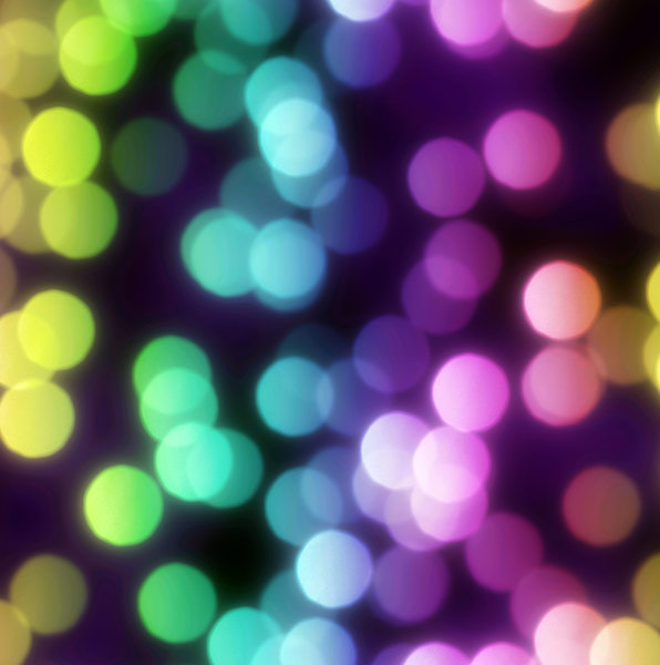 Bokeh or Blurred Lights 37: Bokeh, or blurred background lights in rainbow colours on black. Great for a background, scrapbooking, xmas greetings, texture, or fill. You may prefer:  http://www.rgbstock.com/photo/mHMHFPs/Blurred+Lights+-+Bokeh+1  or:  http://www.rgbstock.com/photo/nY