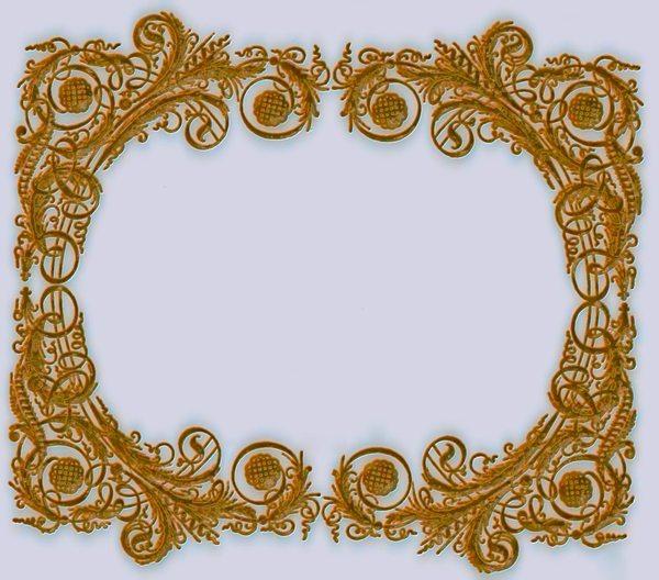 3D+Victorian+Frame+2 on Victorian Ornamental Border Brown
