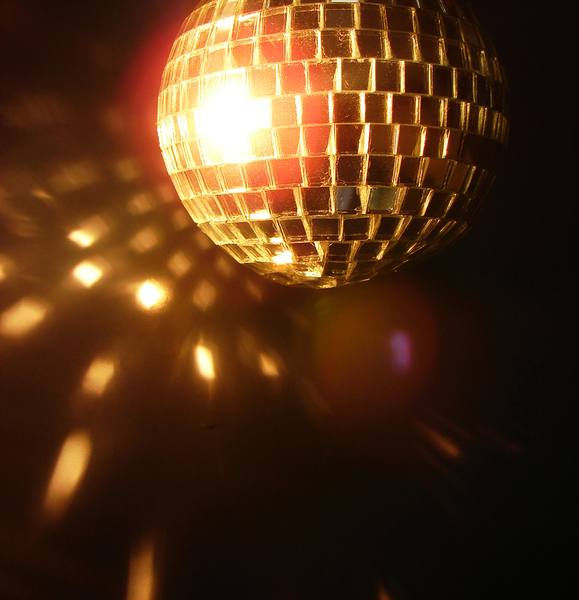 disco ball 2: a disco ball lit up