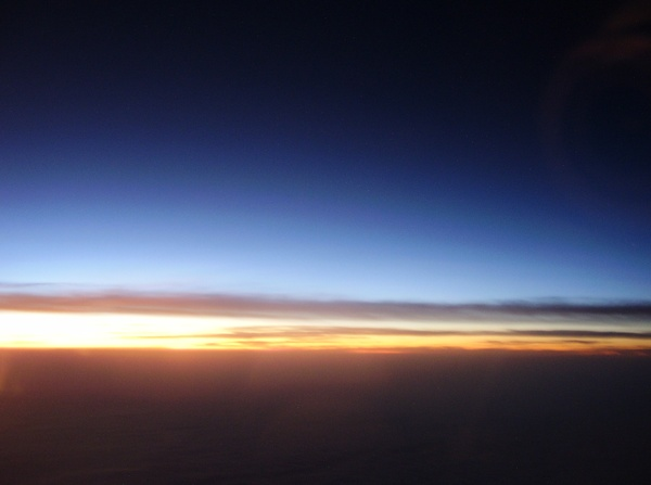 Sunset up high: Sunset take from airplane