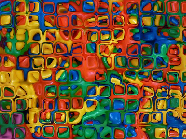 Plastic Texture 1: A shiny, bumpy plastic texture of squares in primary colours. You may prefer:  http://www.rgbstock.com/photo/mgZHHSa/Abstractual+2  or:  http://www.rgbstock.com/photo/naz5HTK/Shiny+Plastic+Background+3