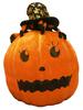 Pumpkin with spider hat