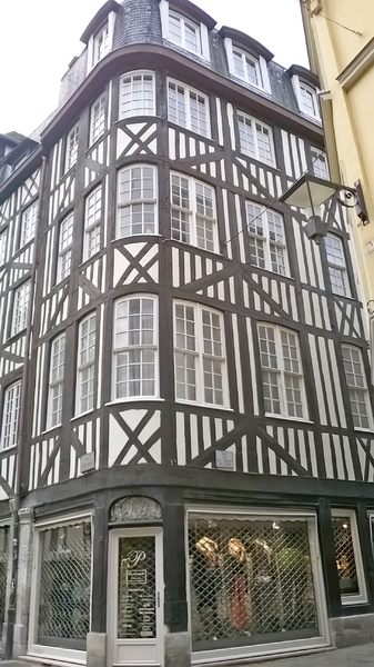Midieval house: house in Midieval style at Rouen, France