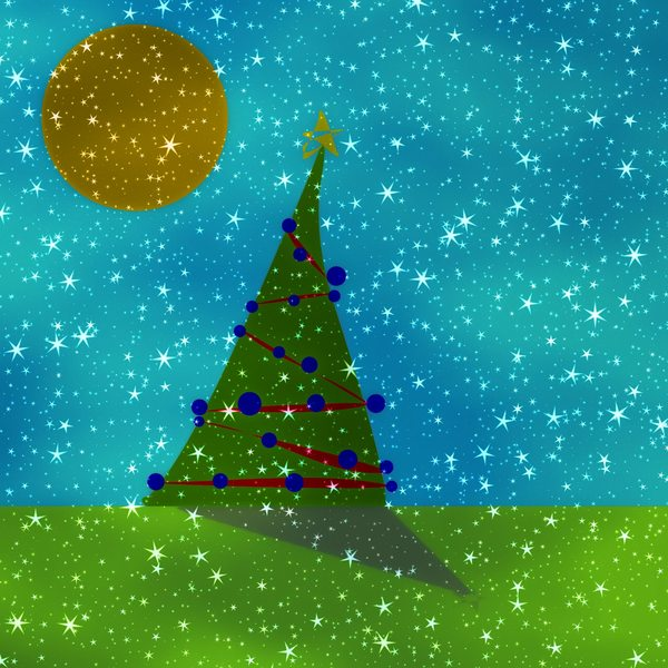 Fantasy Christmas Tree 6: A starry, sparkly colourful Christmas scene. You may prefer:  http://www.rgbstock.com/photo/onlx1cY/Merry+Grungy+Christmas+1  or:  http://www.rgbstock.com/photo/2dyVQYr/Abstract+Christmas+Tree