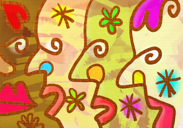 Abstract Faces: Digitally painted abstract faces.