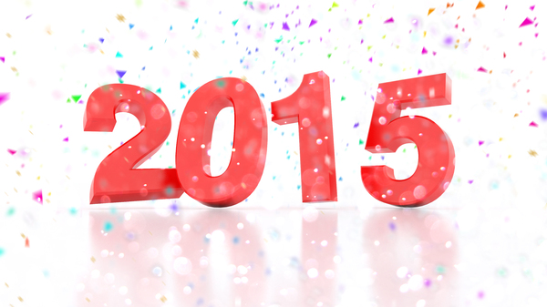 New Year 2015: New Years Eve 2015 with confetti