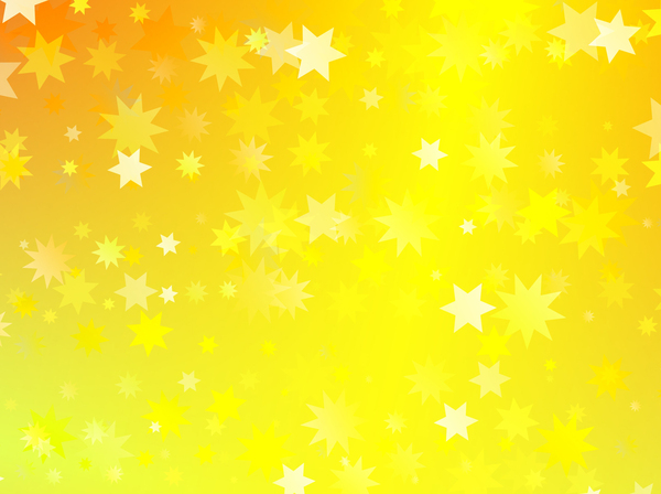 Gold Stars Abstract Pattern: Digitally created gold starry background design.