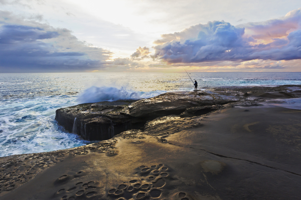 Fishing: Sunrise - Terrigal Haven, NSW 16th August 2014
