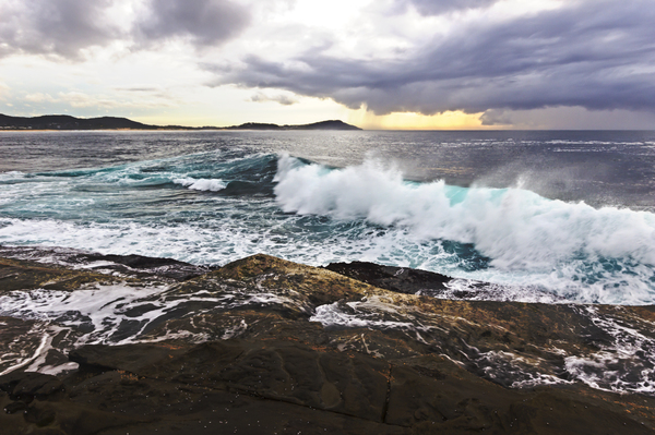 HDR Waves: Sunrise @ Terrigal Haven, NSW 16th August 2014