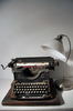 Vintage typewriter & lamp