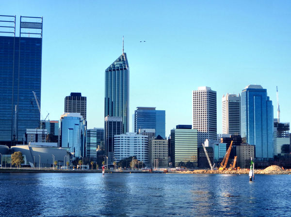 over on the other side7: city of Perth central business district seen from across the other side of the Swan River