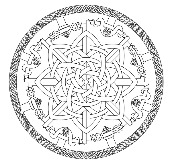 Design CKIA: My original design,  Celtic knot inspired art