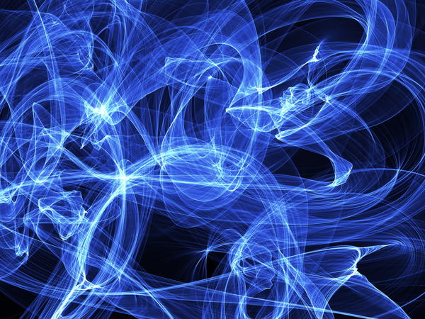 Abstract Blue: Blue light waves abstract background.