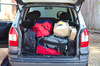 Car boot full of luggage