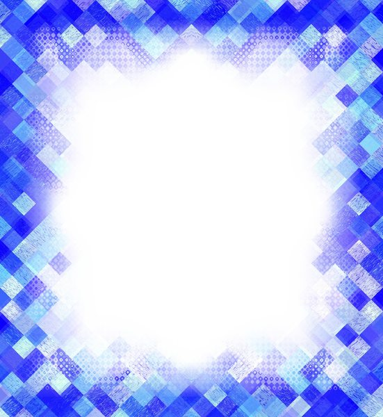 Blue Geometric Border: A blue geometric border or frame with pleanty of copyspace. You may prefer:  http://www.rgbstock.com/photo/2dyXq4Y/Layered+Abstract+Frame+2  or:  http://www.rgbstock.com/photo/nrmoMm4/Vignette+on+Blank+Paper+Blue