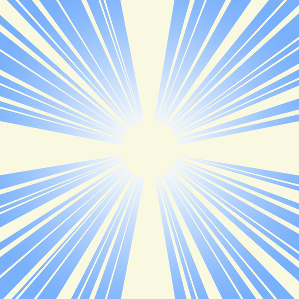 sunburst graphic: Blue/yellow sunburst graphic