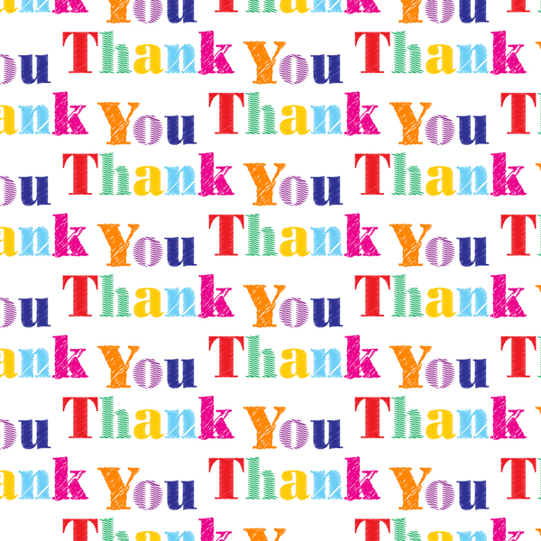 Thank You Text: Thank you wallpaper text design.