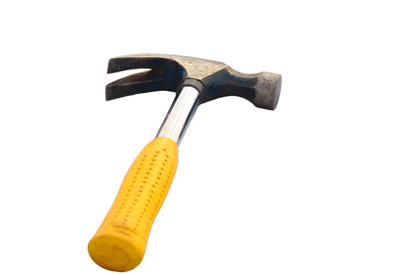Hammer: Isolated shot of a hammer