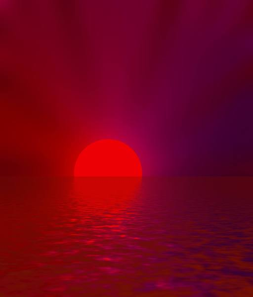 Sun Setting Over Water 1: A blazing tropical sunset over water from a series of three. You may prefer:  http://www.rgbstock.com/photo/nSytarO/Sunset+Over+Water  or:  http://www.rgbstock.com/photo/oXFqTsU/Sunset+Over+Water+2