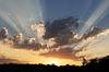 Sunset light shafts
