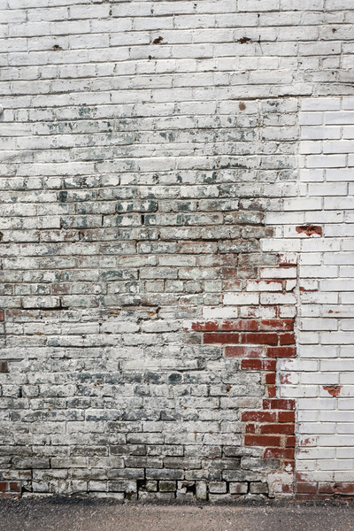 Brick Wall: A painted brick wall.